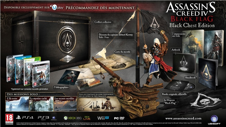 commander assassin's creed 4 black flag chest édition