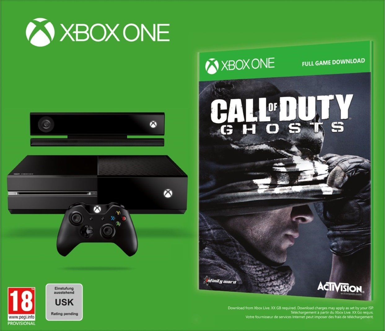 PRÉCOMMANDER XBOX ONE + CALL OF DUTY GHOSTS