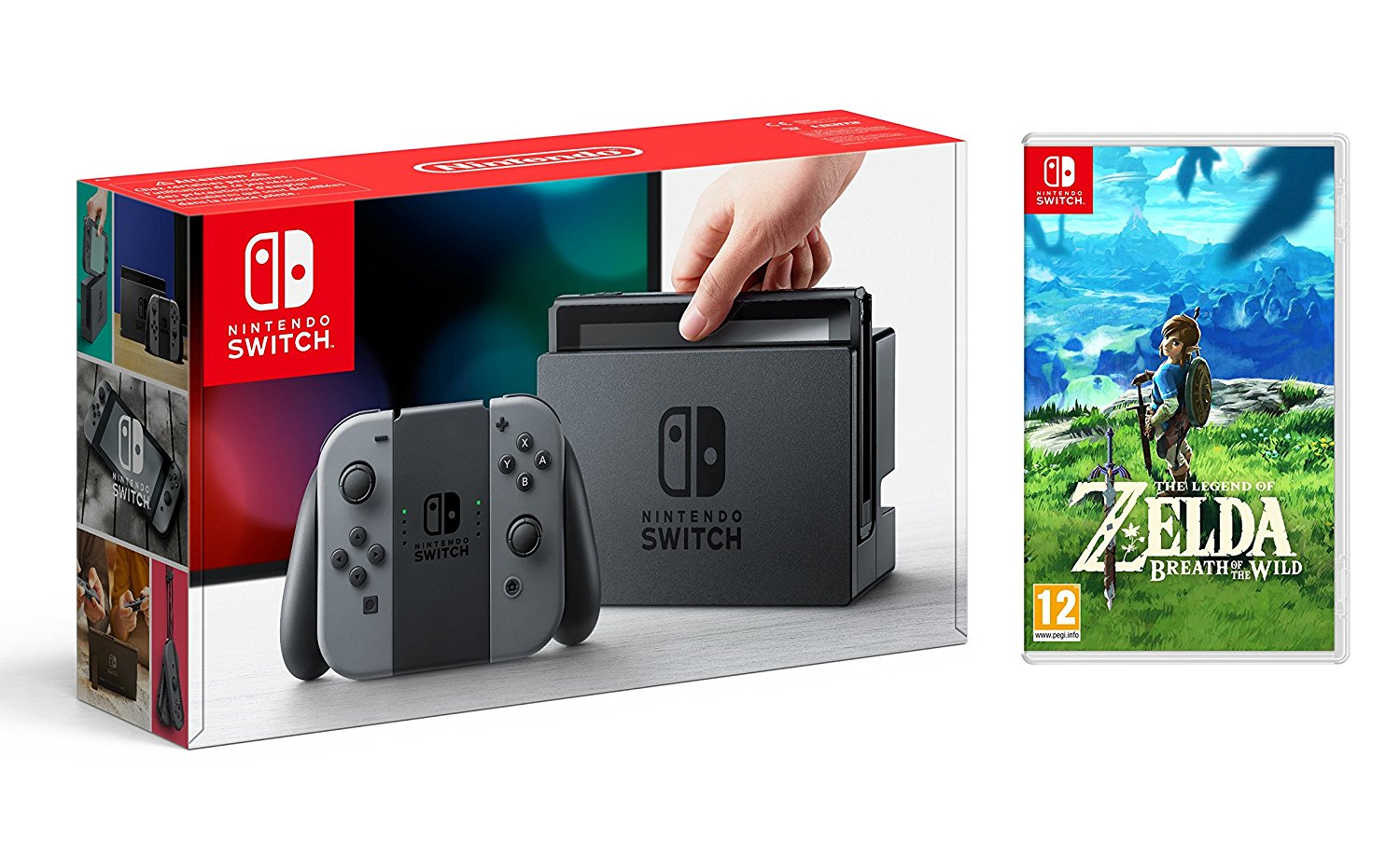Console Switch et The Legend of Zelda Breath of the Wild - Jeux Précommande