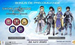 Sword Art Online Alicization Lycoris - Jeux Précommande